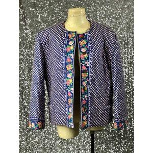 🖤 Vintage 1990s Vera Bradley Royal pattern jacket